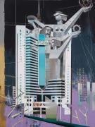 Guangzhou Telecom Building, 2017. Oil on canvas. 200 x 150 cm.