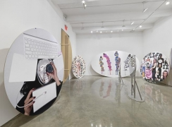 """Olaf Breuning, """"The Life."""" Installation view, 2015. Metro Pictures, New York."""