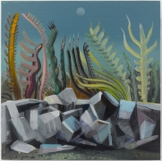 Landscape with Stones, 2019. Oil on panel, 11 13/16 x 11 13/16 inches (30 x 30 cm).