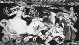 Zofia Stryjenska, 2008. Gouache on canvas, 90.55 x 157.48 inches (230 x 400 cm).