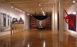 """Steel Angels: Part II,"" installation view, 1986. Metro Pictures, New York."