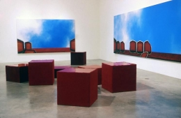 """""""Opposite Day,"""" installation view, 1999. Metro Pictures, New York."""