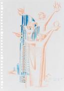 Untitled, 2016. Color pencil on paper, 29.6 x 21 cm.