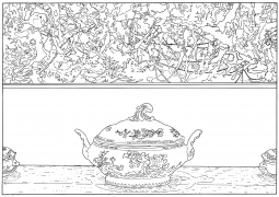 Pollock and Tureen (traced), 1984/2013