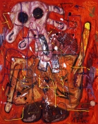 Roter Mann Edvard Munch, 2007. Oil on canvas, 118.11 x 94.49 inches (300 x 240 cm).