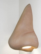 Nose Sculpture Wall Sconce, 2007. Mixed media, 47 x 24 x 19 inches (large) (119.4 x 61 x 48.3 cm). 41 x 20 x 17 inches (medium) (104.1 x 50.8 x 43.2 cm). 36 x 20 x 17 inches (small), (91.4 x 50.8 x 43.2 cm). MP# 186