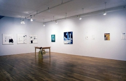 """""""The Sleep of Reason,"""" installation view, 1996. Metro Pictures, New York."""