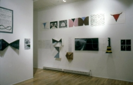 """""""Monkey Island and Confusion,"""" installation view, 1982. Metro Pictures, New York."""