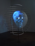 Buzz, 2001. Sony DPL CS2 projector, DVD player, DVD, metal, plastic, Performance by: Joe Gibbons, 104 x 84 x 36 inches + equipment. MP 314