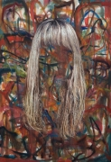 Untitled (Blonde Hair), 2007. Oil on canvas, 70 x 46 inches (177.8 x 116.8 cm).