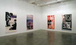 "Paulina Olowska, installation shot. ""Nowa Scena,"" 2007. Metro Pictures, New York."