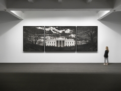 Untitled (White House), 2019. Charcoal on mounted paper,