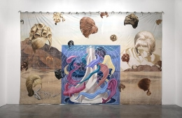 The Rinse Cycle, 2012. Acrylic on muslin, 150 x 230 inches (81 x 584.2 cm). MP 253