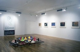 """""""Towards a Utopian Complex,"""" installation view, 1995. Metro Pictures, New York."""