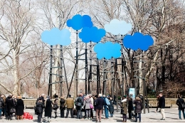 Clouds, installation view, 2014. Central Park, New York.