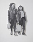 Untitled (Pedestrian Series), 2014. Acrylic on dibond/gatorboard. 43 1/4  x 26 inches (109.9 x 66 cm)