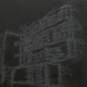 Rockland drive-in, 2010. Pigment, oil paint and cold wax on canvas, 54 x 54 inches (137.2 x 137.2 cm). MP 232