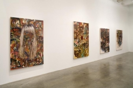 """""""Dr. Goldfoot and His Bikini Bombs,"""" installation view, 2008. Metro Pictures, New York."""