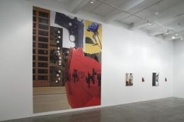 """Sucked In, Blown Out, Obviously Indebted or One Foot in Front of the Other,"" installation view, 2008. Metro Pictures, New York."