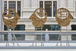 Heads, installation view, 2018. Smithson Plaza, London.