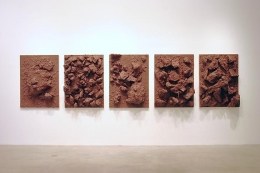 """Everything is Painted Brown,"" installation view, 2004. Metro Pictures, New York."