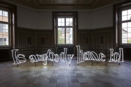 !Mediengruppe Bitnik sculpture 'Solve This Captcha: Is anybody home lol'