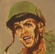 Soldier, 1981. Acrylic on board, 12 x 12 inches (30.5 x 30.5 cm). MP 24
