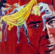 Day Dreams, 1983. Acrylic on canvas, 24 x 24 inches (61 x 61 cm). MP 1