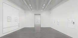 "Louise Lawler, ""No Drones."" Installation view, 2014. Metro Pictures, New York."
