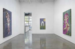 """Jim Shaw, """"I Only Wanted You to Love Me."""" Installation view, 2014. Metro Pictures, New York."""