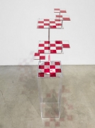 1 2 Mate, 2010. Acrylic and aluminium, 24 1/2 x 13 1/2 x 20 1/2 inches (62.2 x 34.3 x 52.1 cm). MP 57