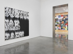 "Gary Simmons, ""Fight Night."" Installation view, 2014. Metro Pictures, New York."
