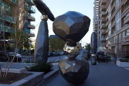 """The Guardians,"" public installation, 2013. Liberty Village, Toronto."