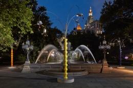 Kitchen Trees. Installation view, 2018. City Hall Park, New York.