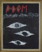 Doom, 2007. Oil on board, 11-3/4 x 14-1/8 inches (image) (26 x 35.2 cm). MP 12