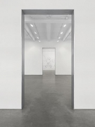 """Louise Lawler, """"No Drones."""" Installation view, 2014. Metro Pictures, New York."""