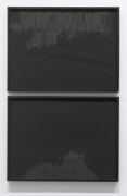Psycho Split, 2010. Pigment and charcoal on paper, 2 panels, 19 x 25 inches (each panel) (48.3 x 63.5 cm). MP D-389