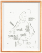 Untitled, 2013. Pencil on paper, Image 12.6 x 9.45 inches (32 x 24 cm), Frame 14 3/4 x 11 5/8 inches (37.5 x 29.5 cm).