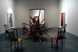 """""""Jacqueline: The paintings Pablo couldn't paint anymore,"""" installation view, 2000. Metro Pictures, New York."""