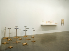 B. Wurtz: Works 1970–2011, installation view. Metro Pictures, New York.