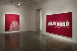"""Night of the Fires,"" installation view, 2008. Metro Pictures, New York."