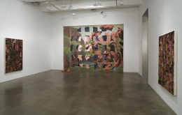 """""""Dr. Goldfoot and His Bikini Bombs,"""" installation view, 2007. Metro Pictures, New York."""