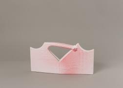 Handbag, 2013/14., Polystyrene, acrylic paint, 9.45 x 19.29 x 2.56 inches (24 x 49 x 6.5 cm).