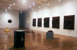"""""""...but the flesh is weak.,"""" installation view, 1990. Metro Pictures, New York."""