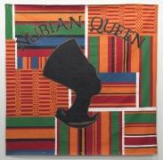 Nubian Queen, 1993. Latex on tarpaulin, 96 x 96 inches (243.8 x 243.8 cm).