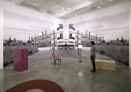 """""""Suburban Past Time,"""" installation view, 2012. Metro Pictures, New York."""