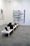 """""""The Poetics Project: 1977 - 1997,"""" installation view, 1998. Metro Pictures, New York."""