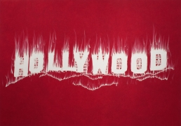 Hollywood, 2008. Pigment, oil paint and cold wax on canvas, 84 x 120 inches (213.4 x 304.8 cm).