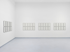 Jack Goldstein, Selectric Work. Installation view, 2019. Metro Pictures, New York.