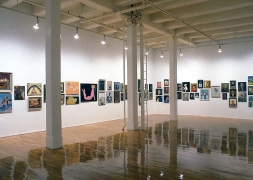 """Thrift Store Paintings,"" installation view, 1991. Metro Pictures, New York."
